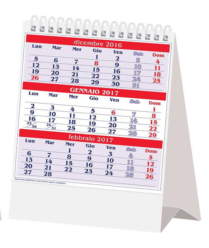 Calendario da tavolo olandese 2017 - Calendario 2017 da tavolo ...
