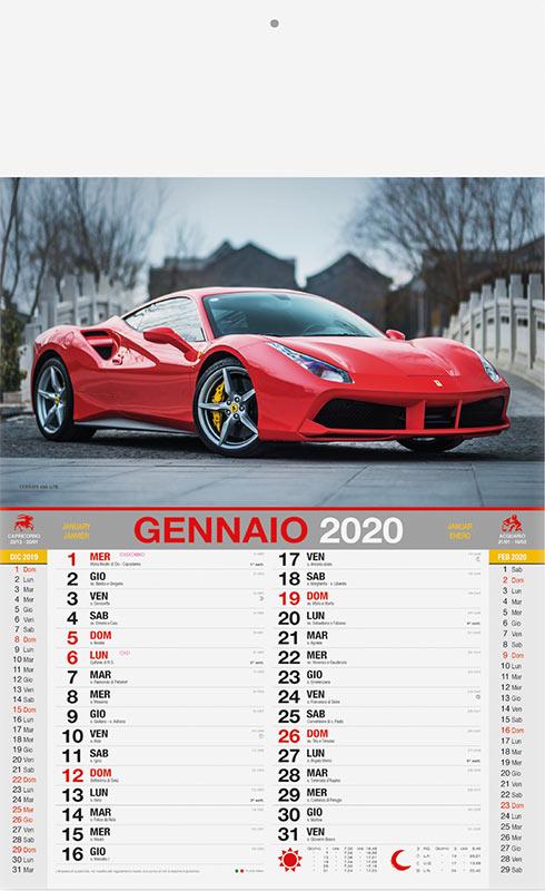 Calendario Auto.Calendario Auto Sportive 2020 Calendari Automobili