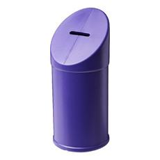 Contenitore raccolta fondi in plastica per beneficenza - colore Porpora