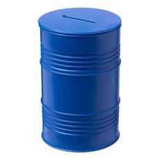 Salvadanaio a forma di barile - colore Blu