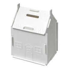 Salvadanaio a forma di casa - colore Bianco