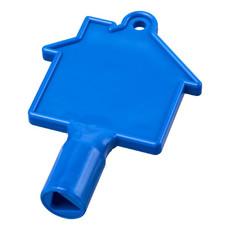 Chiave a forma di casa per contatori - colore Blu