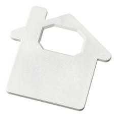 Apribottiglie a forma di casa  - colore Bianco