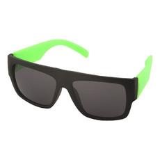 Occhiali da sole con astine ampie colorate - colore Lime/Nero