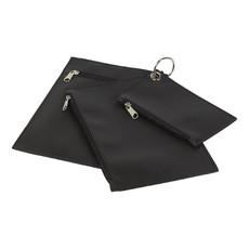 Borsellino a tre scomparti con portachiave - colore Nero