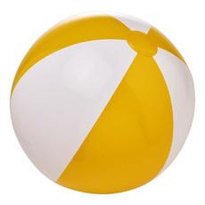 Pallone da spiaggia a tinta unita - colore Giallo/Bianco