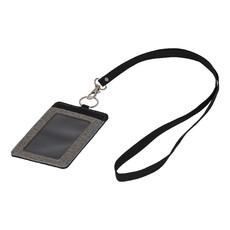 Porta badge melange con lanyard - colore Grigio/Nero