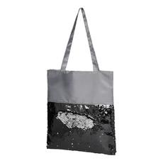 Shopper con paillettes - colore Grigio/Nero