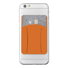 Porta carte con fessura per dito - colore Arancio