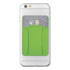 Porta carte con fessura per dito - colore Lime