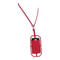 Porta carte in silicone per cellulare - colore Rosso