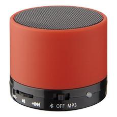 Speaker cilindrico con finitura in gomma - colore Rosso