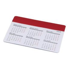 Tappetino mouse con calendario - colore Rosso