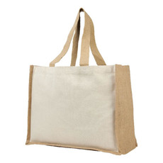 Shopper in juta e canvas 340gr - colore Naturale
