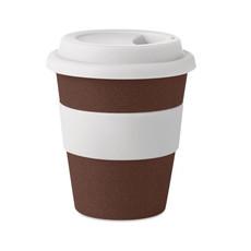 Bicchiere eco in foglie di caffè colore bianco MO6106-06