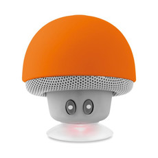 Speaker bluetooth con ventosa colore arancio