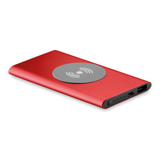 Power Bank wireless 4000mAh colore rosso MO9498-05