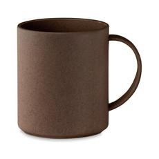Tazza eco in foglie di caffè 300ml colore marrone MO6107-01