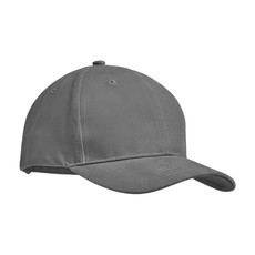 Cappellino 6 pannelli cotone pesante colore grigio