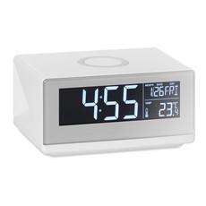 Orologio da tavolo con ricarica wireless colore bianco MO9588-06