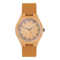 Orologio in pelle colore legno MO9645-40
