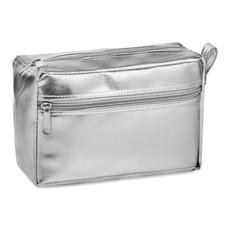 Portacosmetici in PVC colore argento MO9573-14