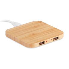 Caricatore wireless con hub USB colore legno MO9698-40