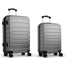 Set trolley in ABS colore argento opaco MO9697-16