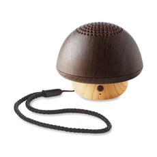 Speaker Bluetooth a forma di fungo effetto legno colore marrone MO9718-01
