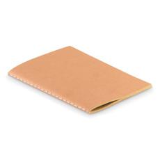 Notebook A6 con fogli in carta riciclata colore beige MO9868-13