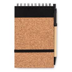 Notebook in sughero A6 con penna colore nero MO9857-03