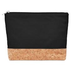 Portacosmetici in cotone e sughero colore nero MO9817-03