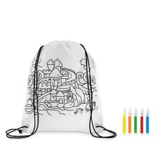 Sacca da colorare per bambini colore bianco MO9887-06
