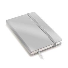 Quaderno A6 in copertina rigida silver