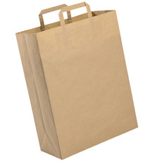 Shopper in carta riciclata con logo