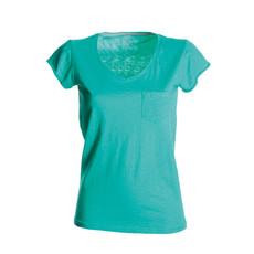 t-shirt donna manica corta collo a V slubby jersey colorato Wild Lady Payper