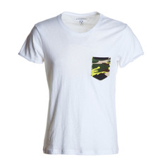 t-shirt manica corta con taschino slubby jersey Discovery Pocket bianco Payper