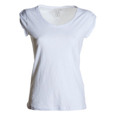t-shirt donna manica corta slubby jersey bianco Discovery Lady Payper
