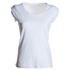 t-shirt donna manica corta slubby jersey bianco Neutral Discovery Lady Payper