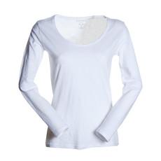 t-shirt donna manica lunga slubby jersey bianco Passenger Lady Payper