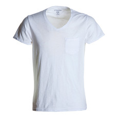 t-shirt manica corta collo a V slubby jersey bianco Wild Payper