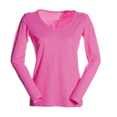 t-shirt donna manica lunga slubby jersey fluo Passenger Lady Payper