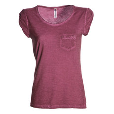 t-shirt donna manica corta con taschino slubby jersey Discovery Lady Pocket shiny colour Payper