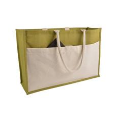 Shopping bag in juta personalizzato