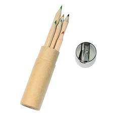 set di 6 matite colorate