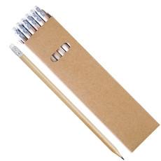Set matite in legno naturale