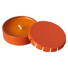 Candela in barattolo in latta colorato - colore Arancio