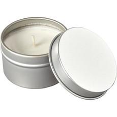 Candela Luva in barattolo in latta - colore Argento