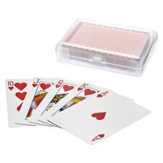 Mazzo di carte da poker - colore Rosso Trasparente