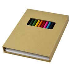 Set blocco da colorare con matite - colore Naturale